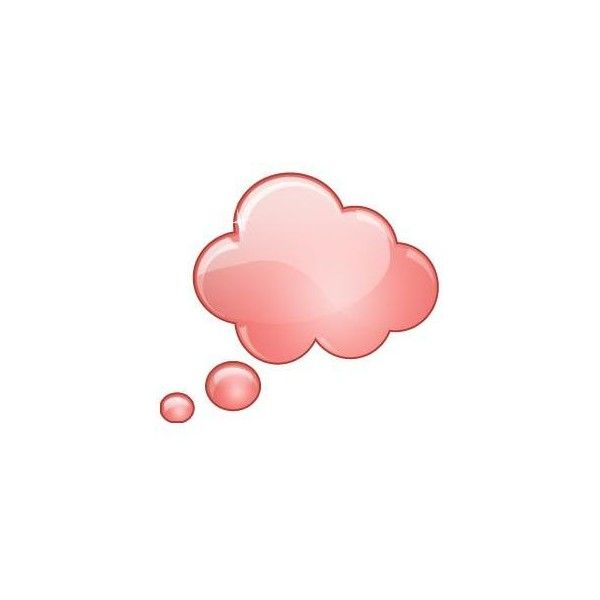 Thought bubble pink. Cloud liked on polyvore