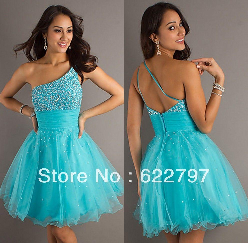 Vestidos de noche color azul turquesa - Vestido Azul Turquesa Corto Fiesta Vestido De Color Turquesa