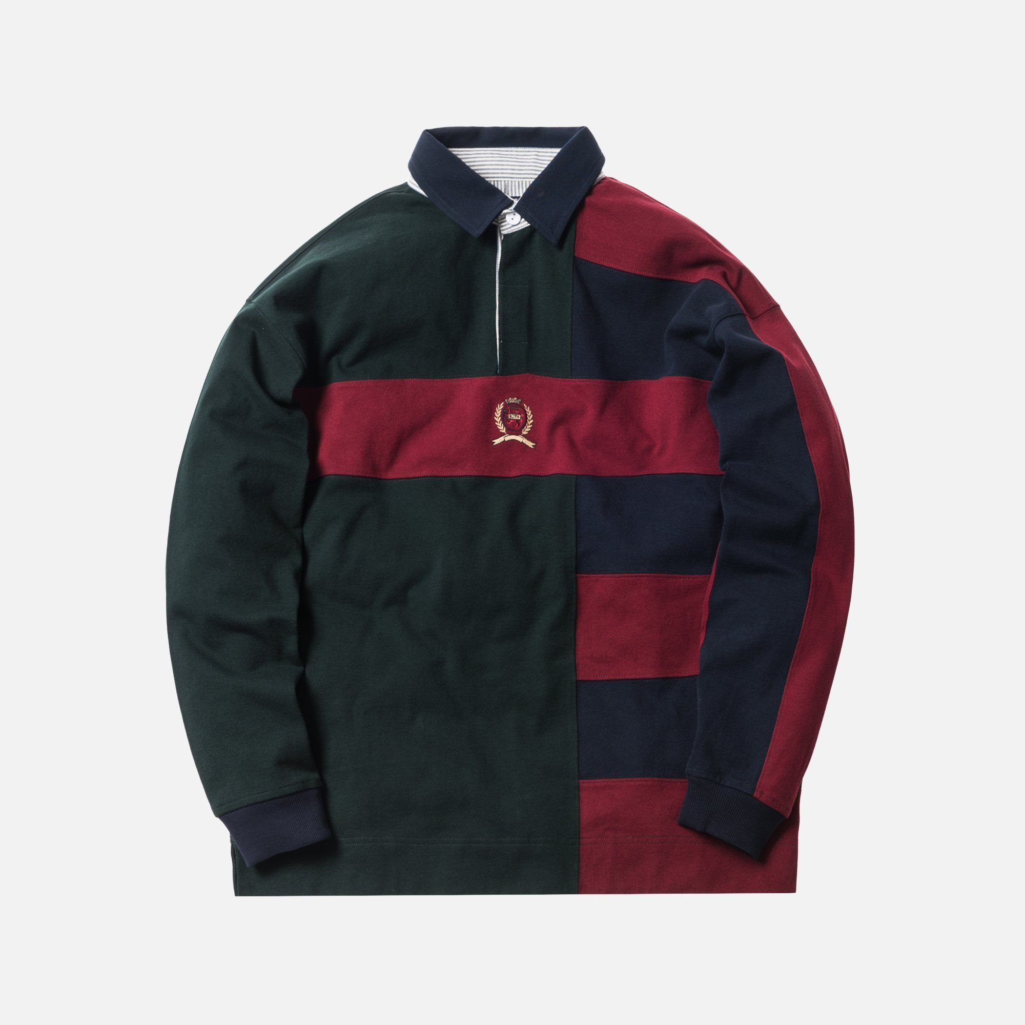 8e9f8f8a Kith x Tommy Hilfiger Color Block Rugby - Forest | Young men's FA19 ...