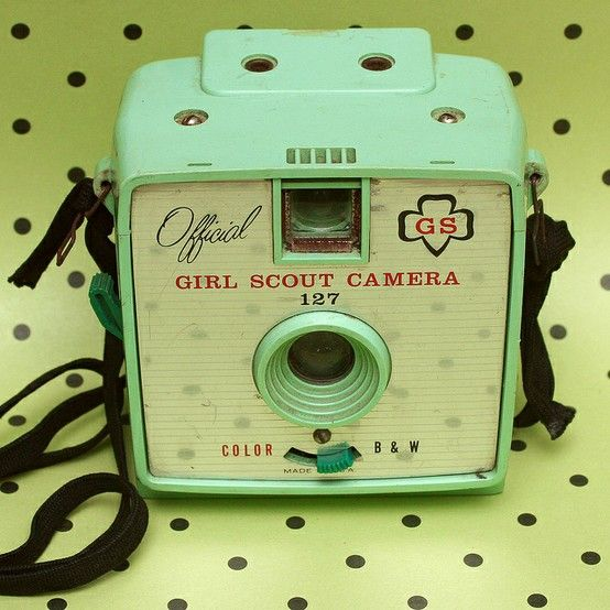 forgottenantiquities: Vintage Girl Scout Camera, 1950s.