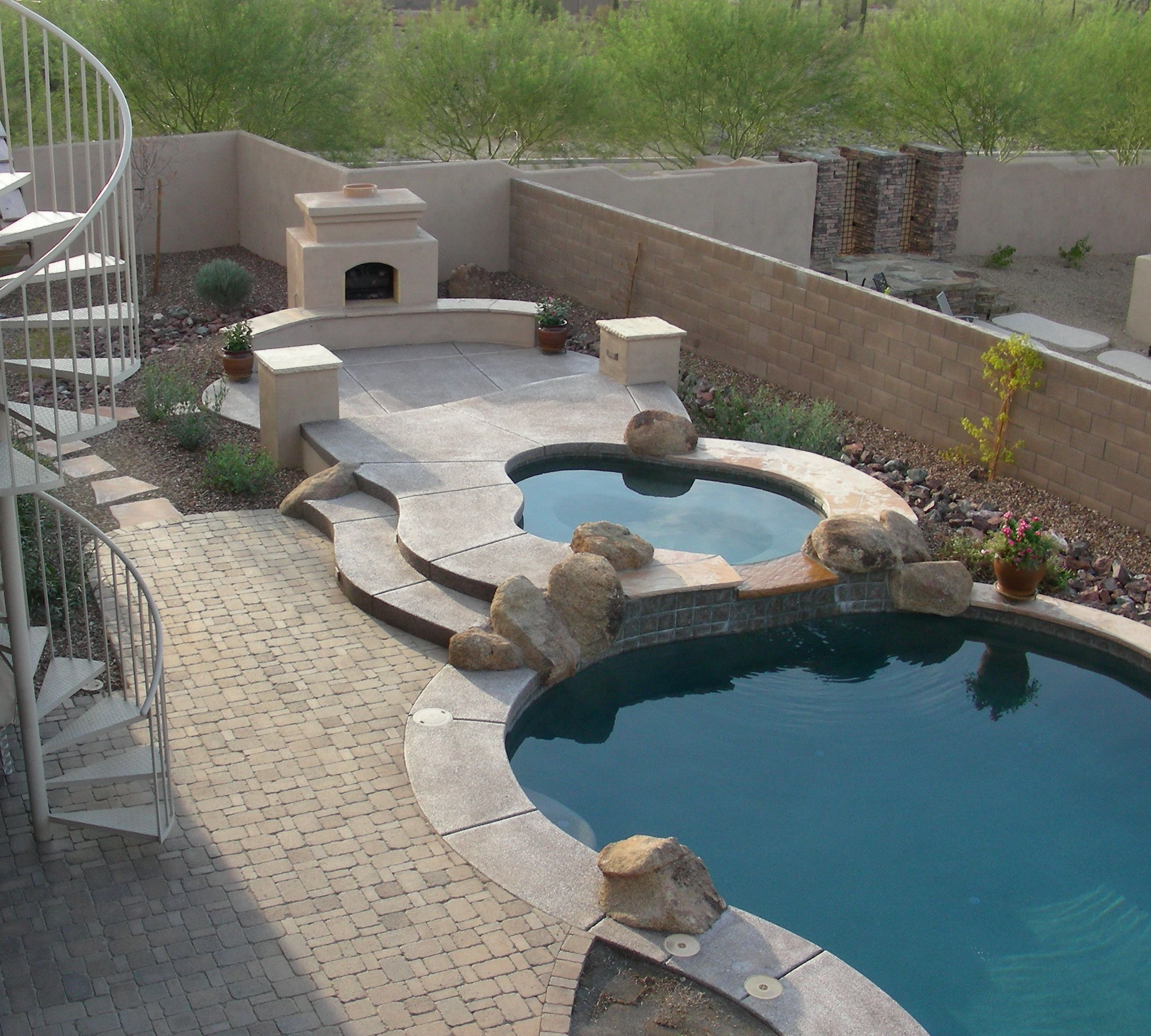 patio swimming pools austin swimming pool builders spa deck - Swimming Pool And Spa Design
