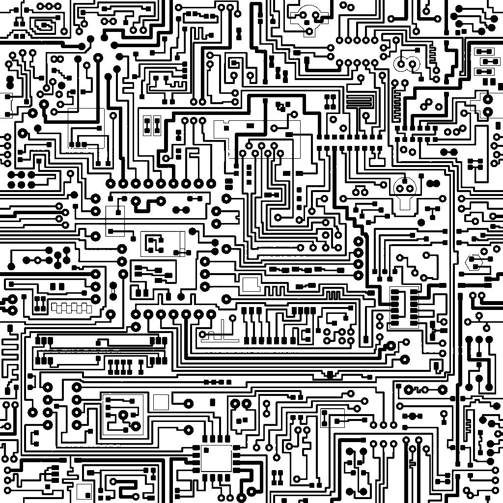 Complex Circuit texture | Ornament 14 : black and white modern ...