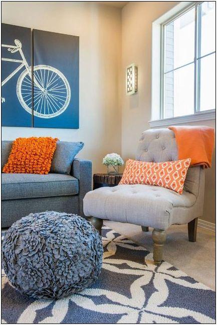25 teal and orange living room decor 11 ★ tipsmonika