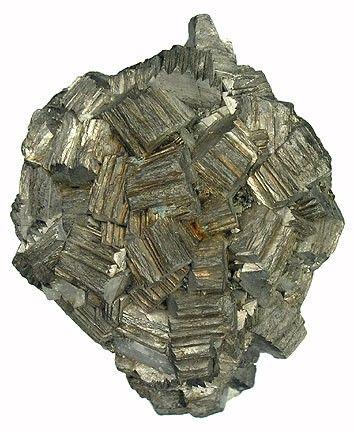 Arsenopyrite, Yaogangxian Mine, Yaogangxian W-Sn ore field, Yizhang Co., Chenzhou Prefecture, Hunan Province, China. Dimensions: 4.2 x 3.3 x 2.2 cm. Copyright: © Rob Lavinsky