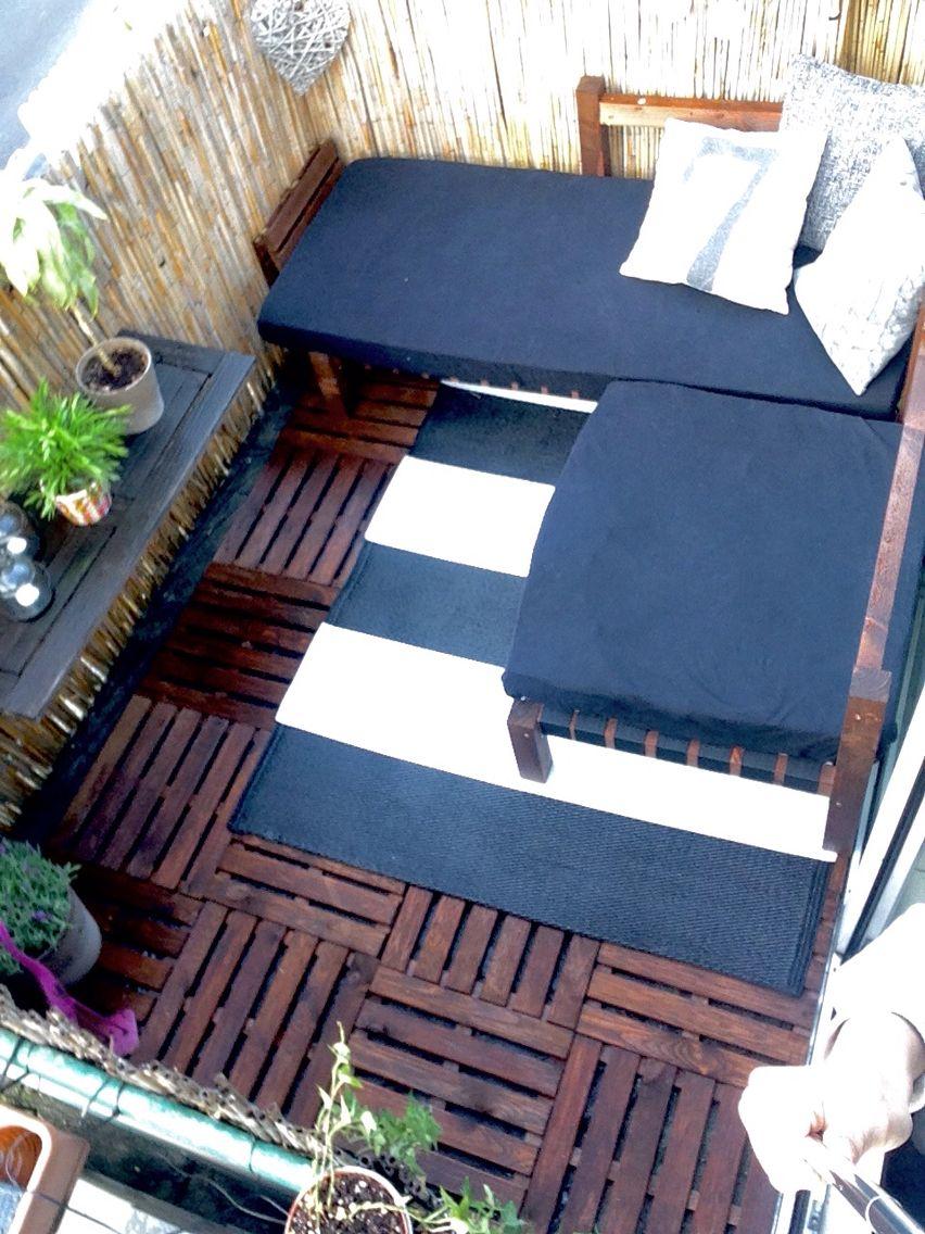 Kleinen Balkon Gestalten   DIY Lounge Balkonien Sommer Terrasse