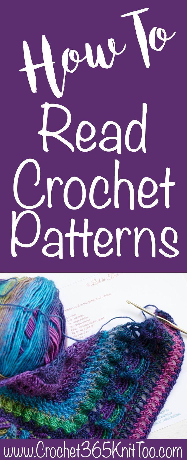 How To Read A Crochet Pattern | Häkeln, Häkelideen und Stricken