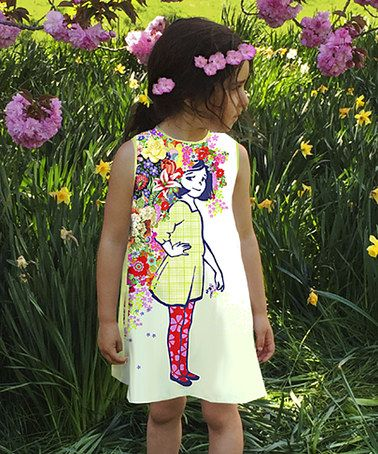 Loving this White Flowers In Her Hair A-Line Dress - Infant, Toddler & Girls on #zulily! #zulilyfinds