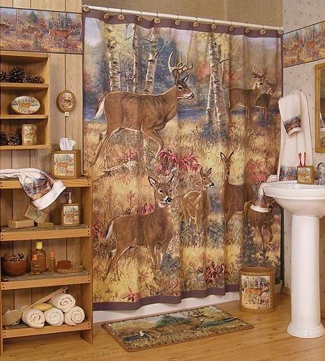 . Cabin Decor   Lodge and Cabin Home    Deer Lodge Decor    Bathroom