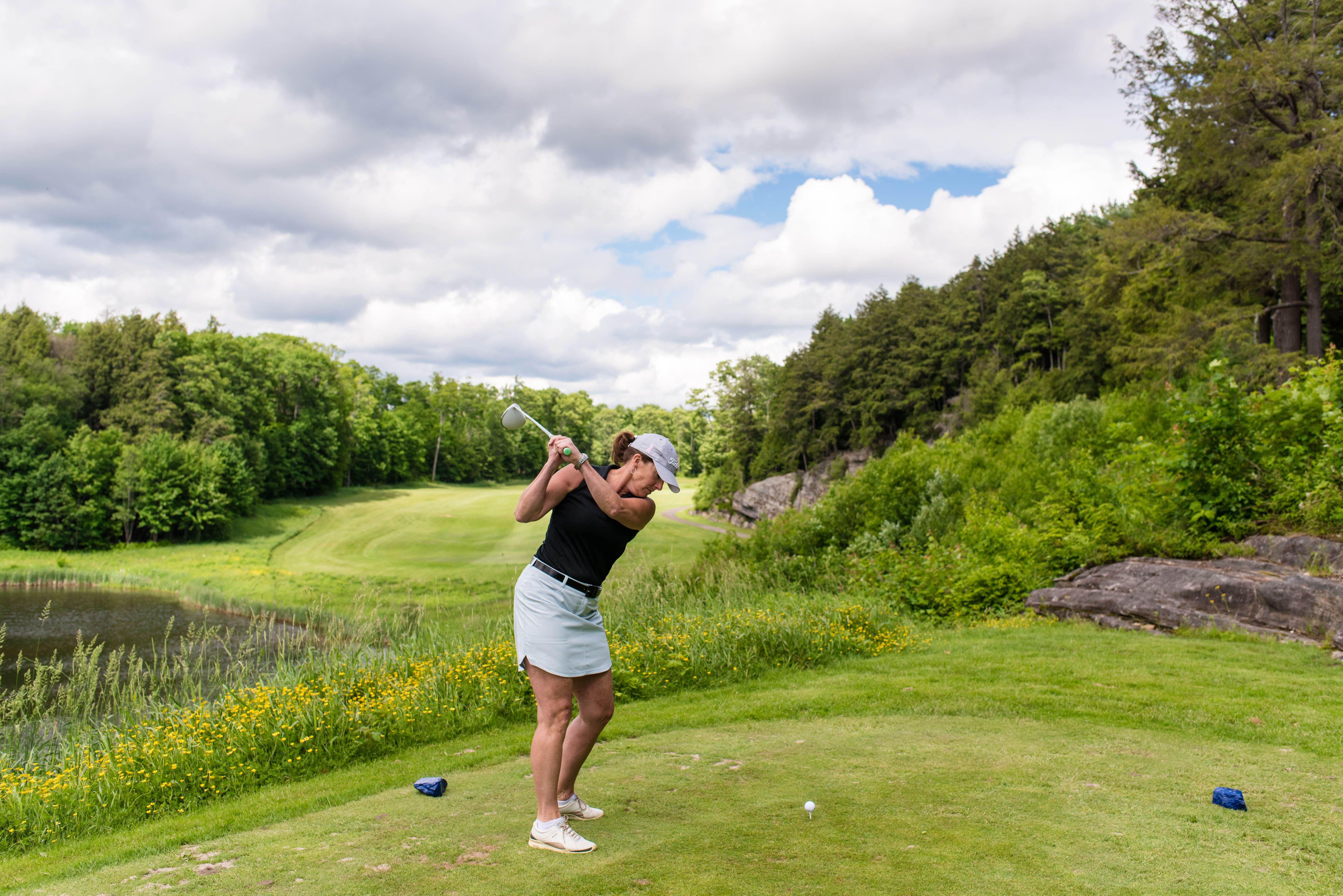 Golfing at Deerhurst Resort in Muskoka, ON. Resort