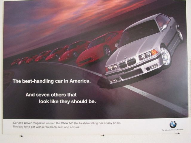 Car and Driver rated the E36 M3 as the best handling car in America