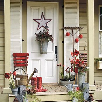 Decoration porte entr e no l front porch pinterest for Decoration noel porte