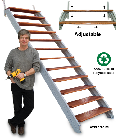 Stair Stringers   Just Add Treads And Screw Them Into Place (adjustments  Made As Necessary). Easy, Affordable!