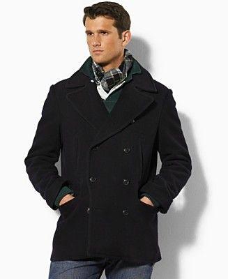 Polo Ralph Lauren Coat, Wool Academy Pea Coat | CK Fine Men's ...