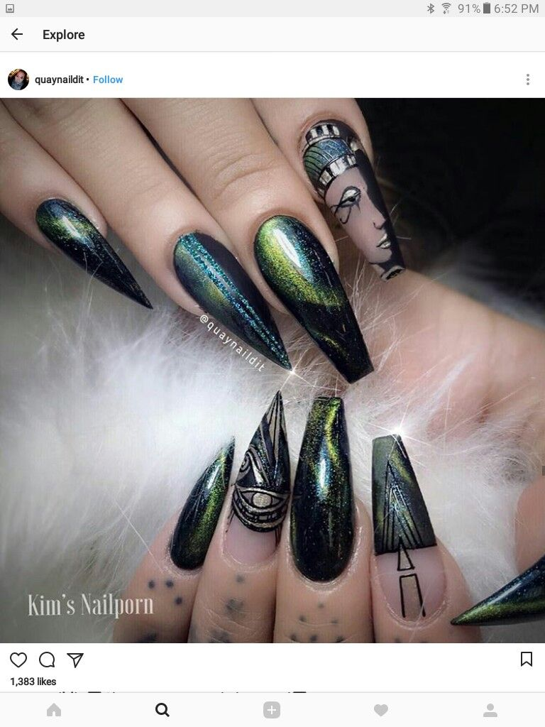 Pin de Valerie Hord en nails | Pinterest | Uñas egipcias, Diseños de ...
