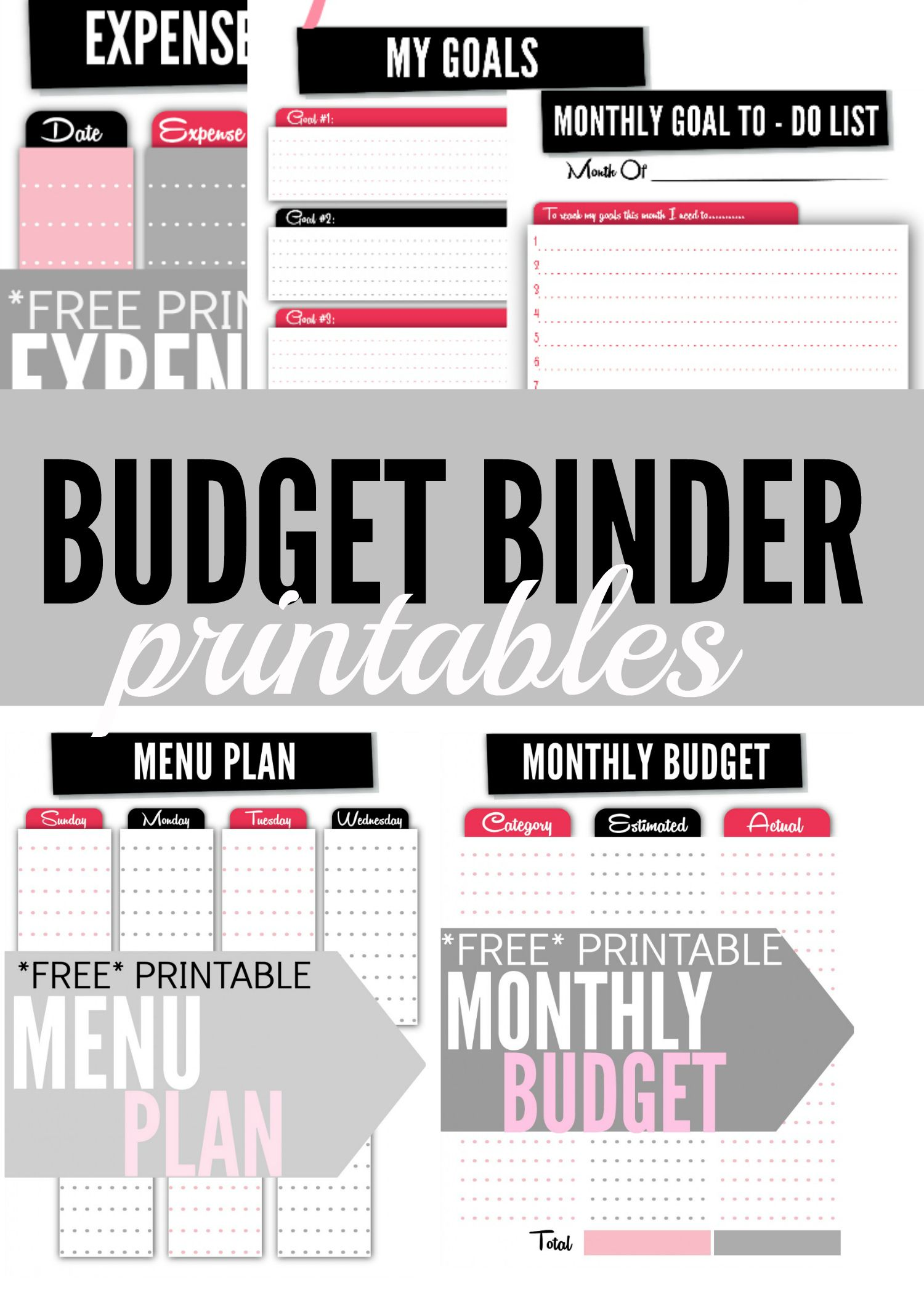 budget binder printables thrifty thursday lwsl pinterest