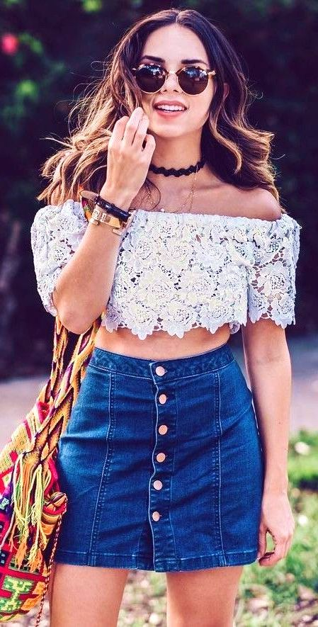#summer #trending #outfits Lace  Denim  - more on http://ift.tt/2rynWxj