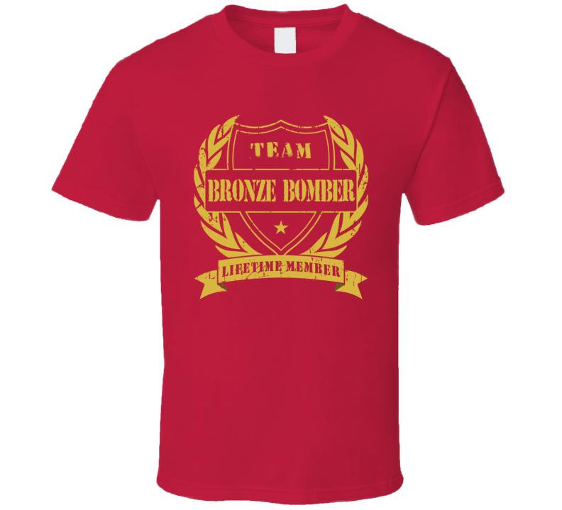 cc7a4b3fc1da Deontay Wilder Team Bronze Bomber Lifetime Member Boxing T Shirt ...