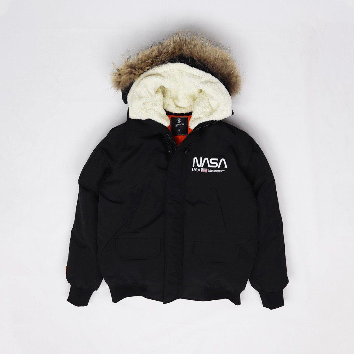 Hudson Outerwear Men S Nasa Fur Hood Bomber Jacket Bomber Jacket Fashion Black Bomber Jacket Urban Jacket [ 1200 x 1200 Pixel ]