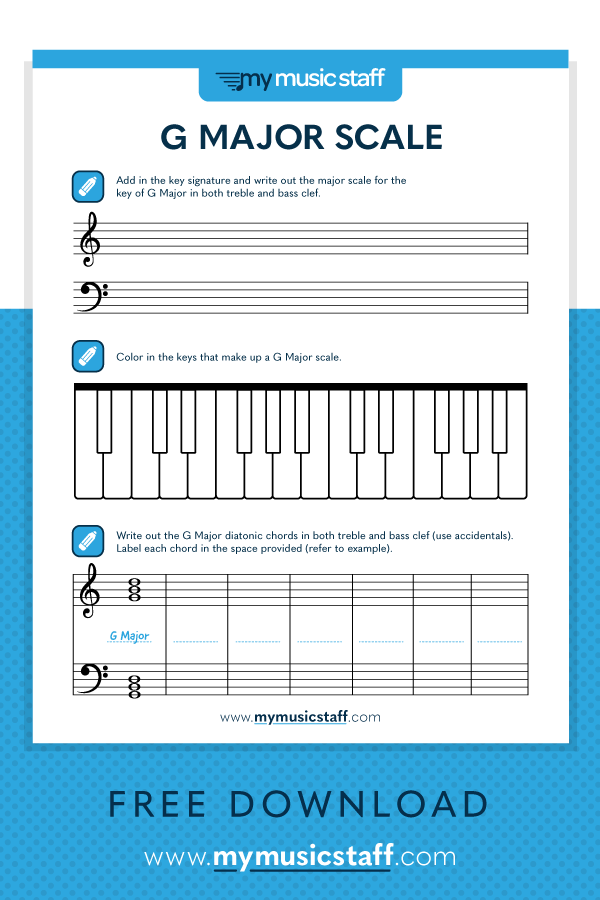 G Major Scale Free Music Activity Sheet From Major Scale