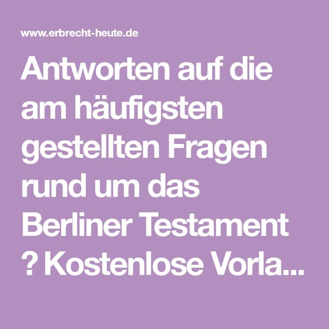 Berliner testament single