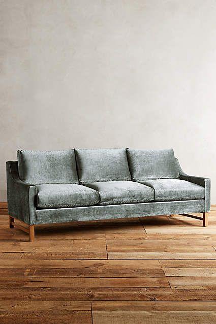 Slub Velvet Dorada Sofa Sofa Vintage Sofa Anthropologie Furniture