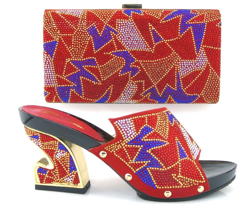 >> Click to Buy << 2016 Charming Italian Shoes With Matching Bags Rhinestones High Quality African Shoes And Bags Set for Wedding Size 37-43!MVZ1-2 #Affiliate