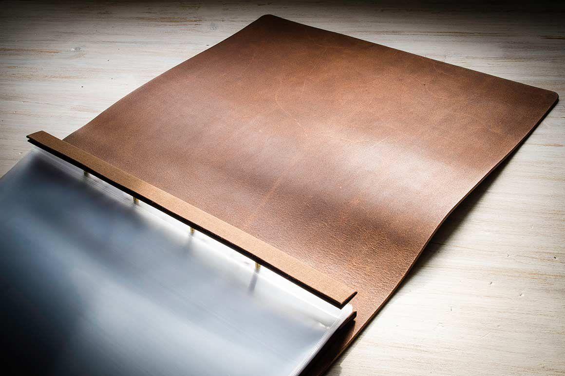 leather screw post portfolio  not personalised