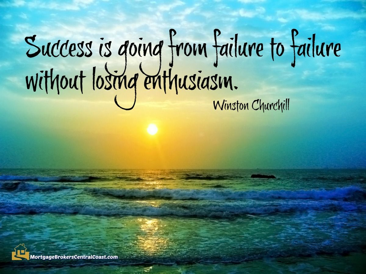 Peaceful Mind Peaceful Life Quotes Success Is Going From Failure To Failure Without Losing Enthusiasm