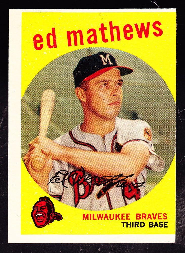 Details About 51509 1959 Topps 450 Eddie Mathews Braves Gd