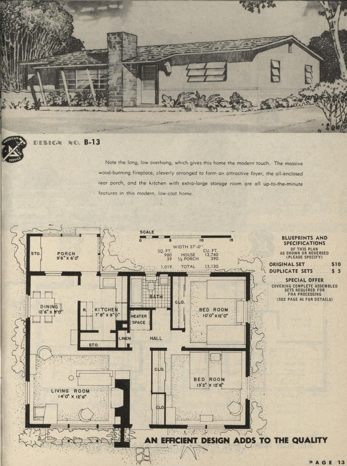 Pin By David Carr On Mid Century Modern Vintage House Plans Blueprints House Plans