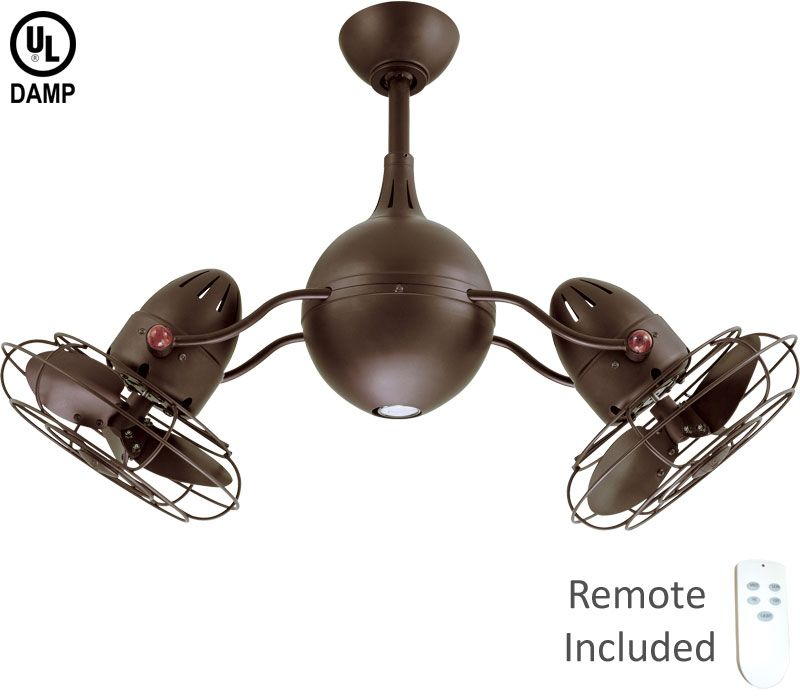 Matthews Aq Tb Mtl Acqua Bronze Dual 37 Outdoor Ceiling Fan With