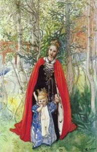 """Spring Princess"" by Carl Larsson (1853–1919) Swedish Painter & Interior Designer"