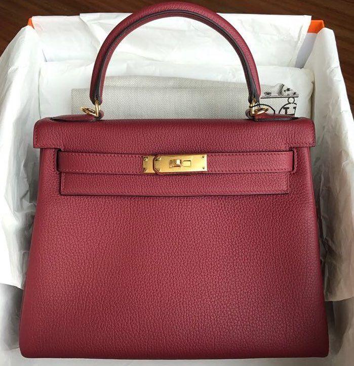 9c15327f5dc Brand New Kelly28 Rouge Grenat Togo Ghw A Hermes Kelly Bag