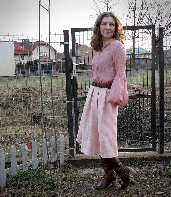 Rozowa Spodnica Blady Roz Dziewczecy Roz Brudny Roz Midi Skirt Fashion Skirts