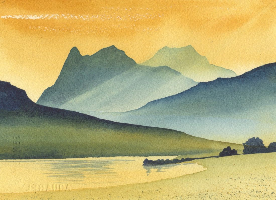 Paintings Of The Lake District By Ian Scott Massie Landscape Art Painting Watercolor Scenery Watercolor Landscape Paintings