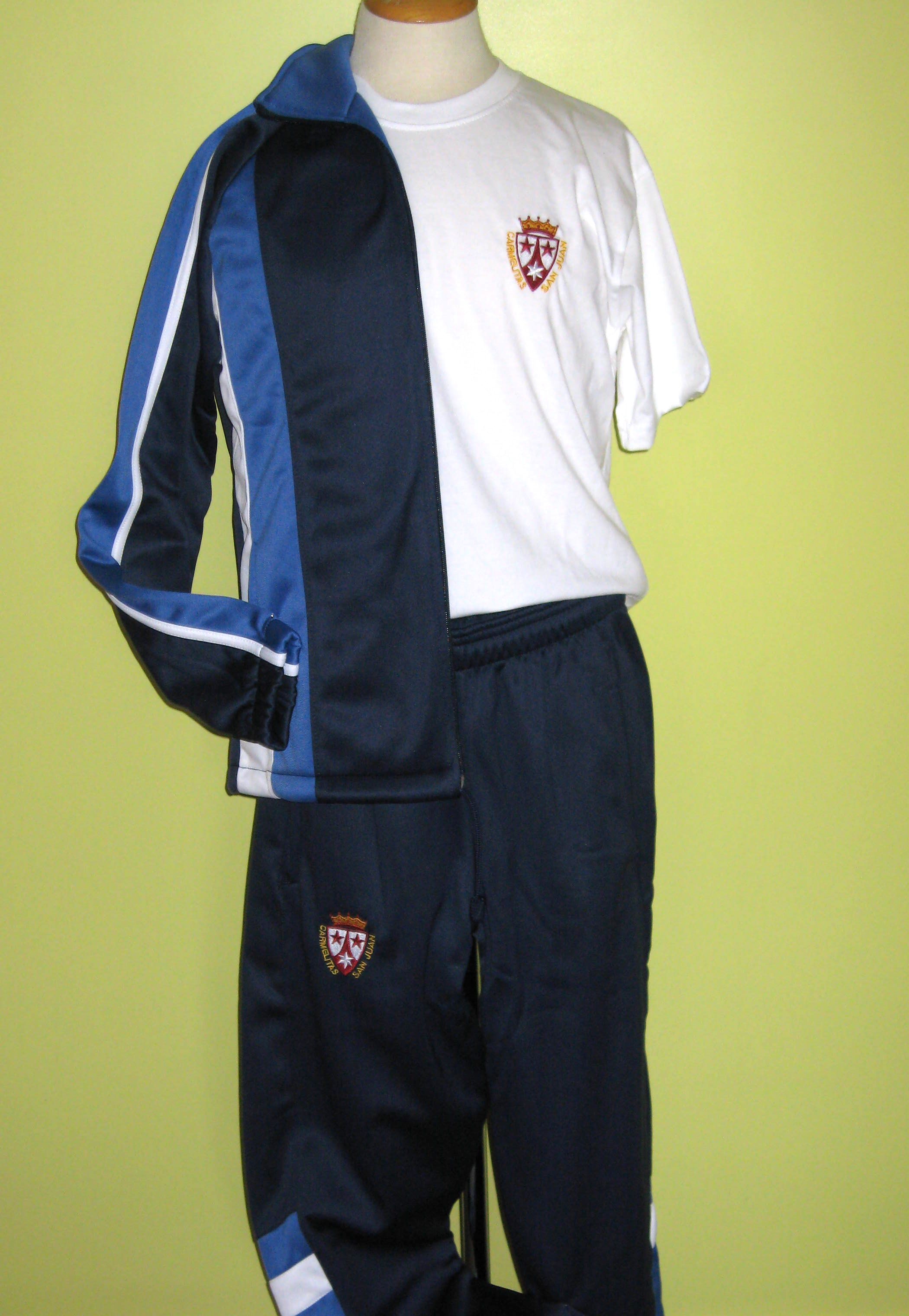 Uniforme deportivo San Juan Carmelitas pantalón y chaqueta ... dd3ad78b82fbd