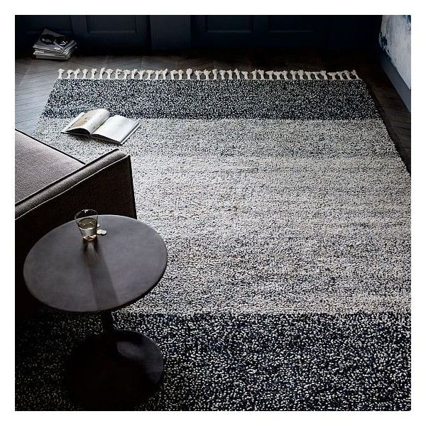 West Elm Pixel Shag Rug Midnight 8 X10 2 070 580 Cop Liked On Polyvore Featuring Home Rugs Wool Sha West Elm Rug Solid Color Rug Geometric Pattern Rug