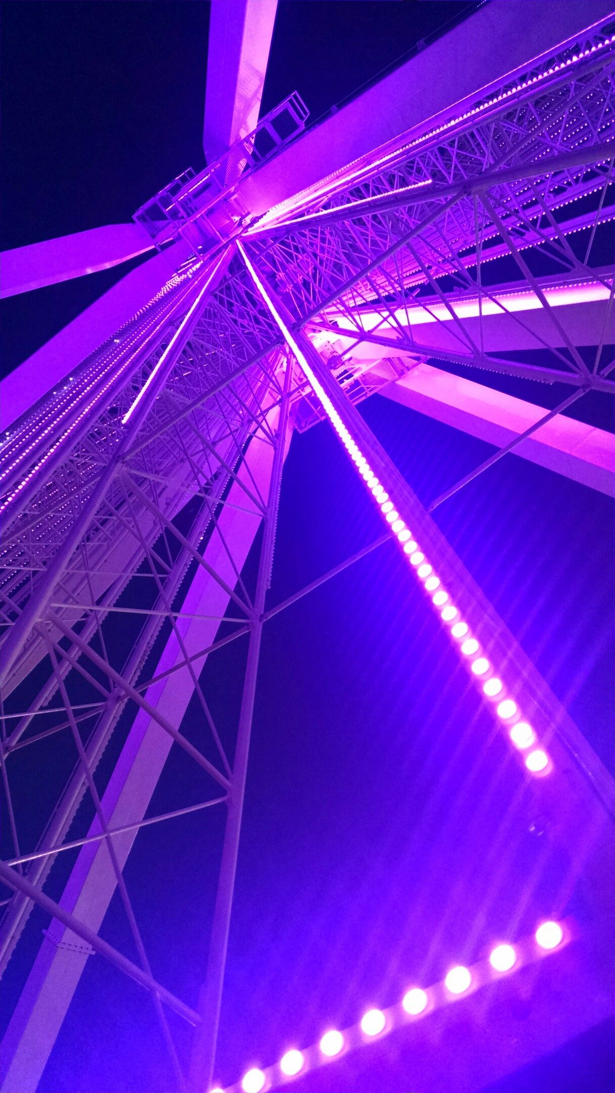 Ferris wheel at night (With images) Purple aesthetic