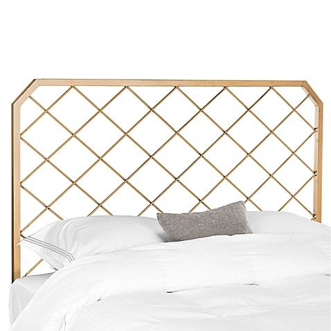 Safavieh Stitch Headboard In Antique Gold With Images