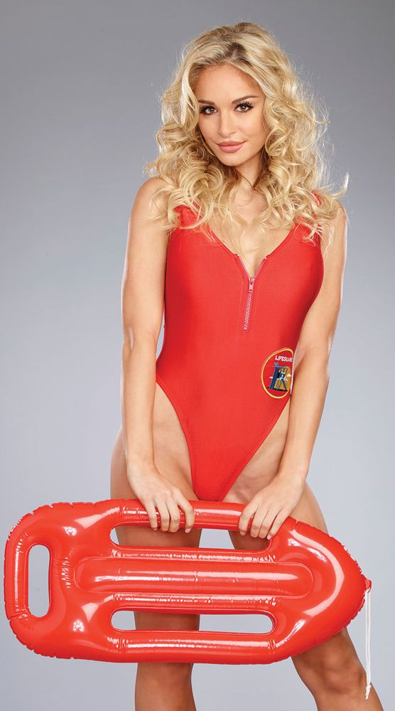 Dreamgirl red Baywatch skirt swimsuit costume