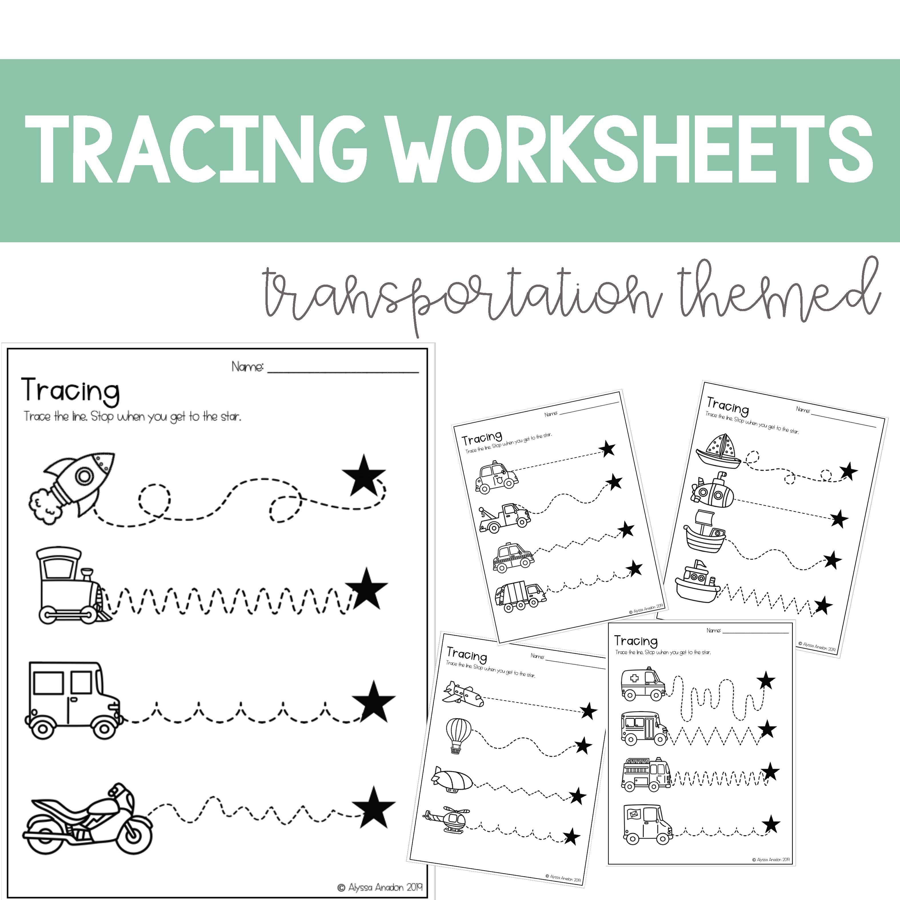 Tracing Worksheets Great For Distance Learning