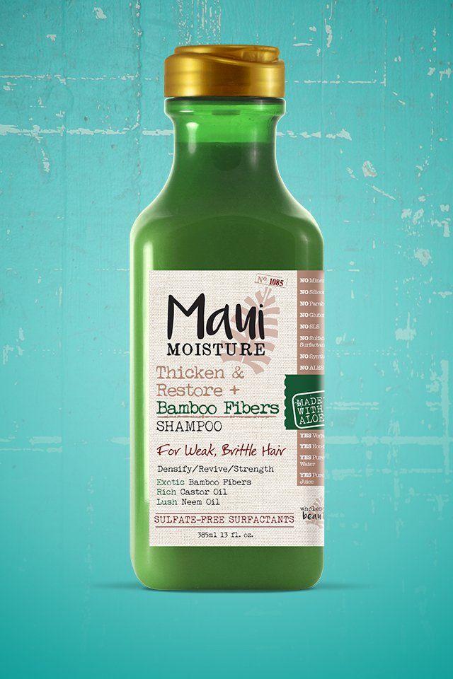 The Maui Moisture Thicken & Restore + Bamboo Fiber shampoo