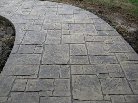Matte Finish Stamped Concrete Google Search Stamped Concrete Walkway Stamped Concrete Patterns Stencil Concrete