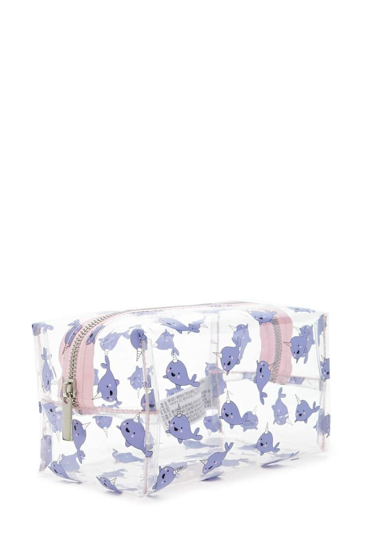 Narwhal Print Makeup Bag Accessories Beauty 1000103734 Forever 21 Canada English Cute Makeup Bags Printed Makeup Bag Makeup Bag