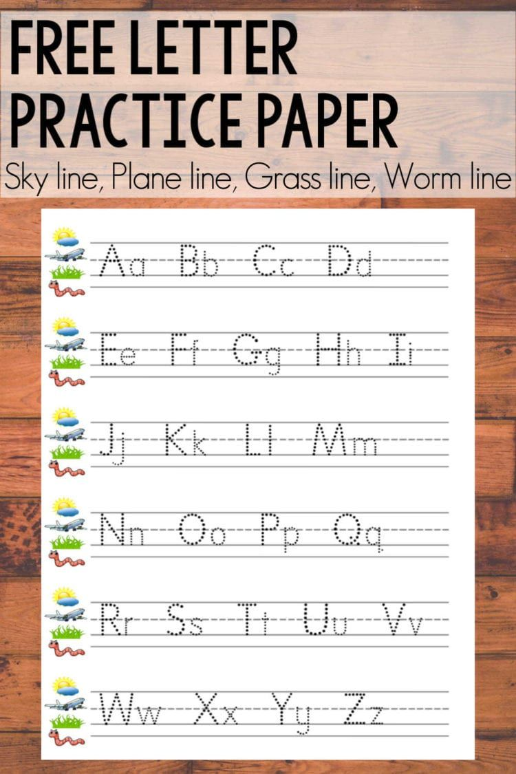Free Alphabet Printable Sky Line Plane Line Grass Line Worm Line Shaping Up To Be A Mom Alphabet Writing Practice Letter Writing Practice Lowercase Letters Practice [ 1125 x 750 Pixel ]
