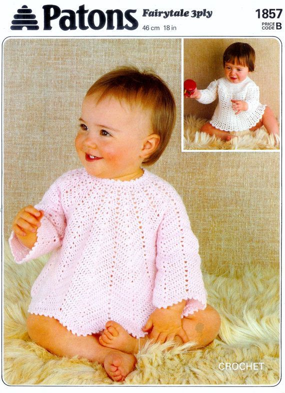 PDF 3ply Angel Tops 2 styles 18ins - Patons 1857 Vintage Crochet ...