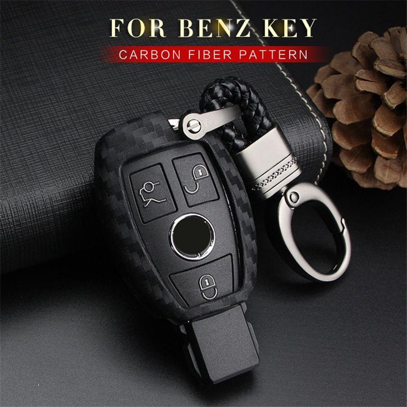 For Mercedes Benz E CLASS New Carbon Fiber CASE Car Key SHELL Cover Holder AMG
