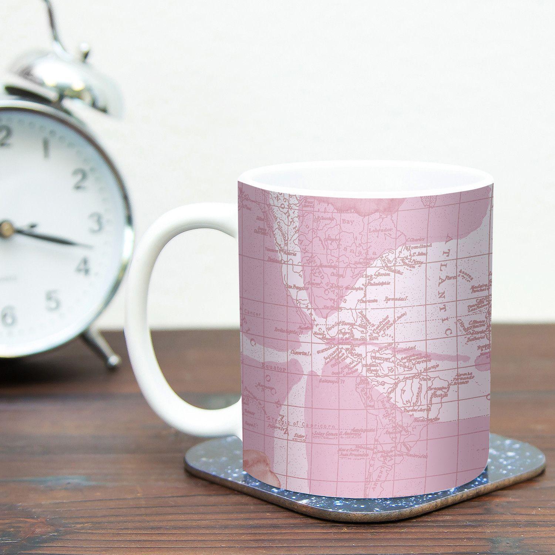 Flower Power by Catherine Holcombe 11 oz. Map Ceramic Coffee Mug