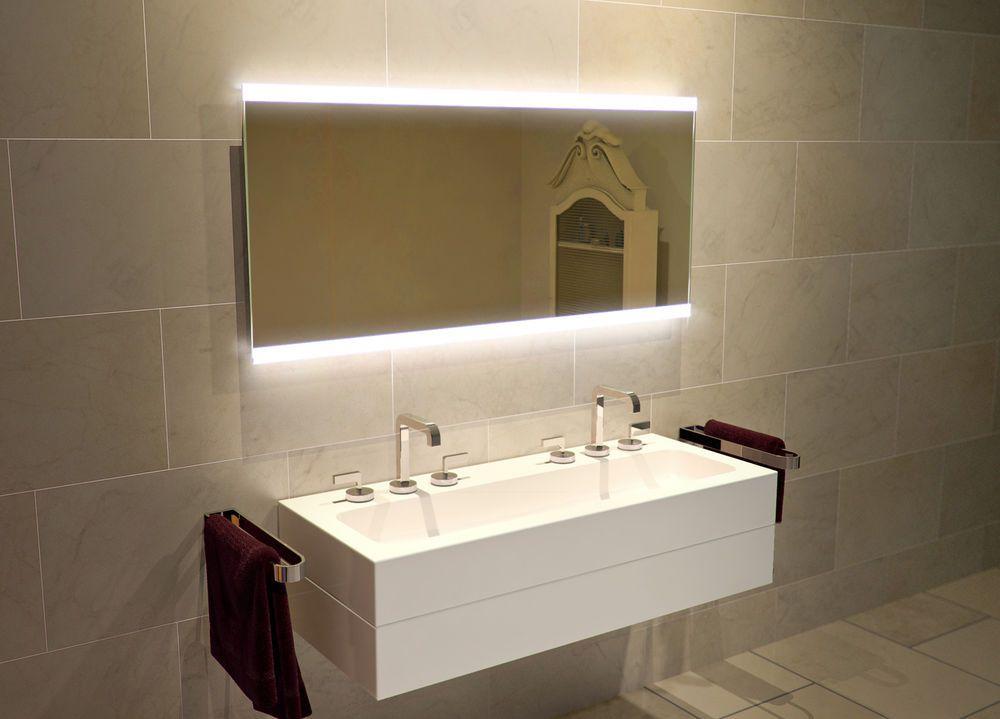 LED Bathroom Mirror, Infra-red Sensor, Shaver Socket
