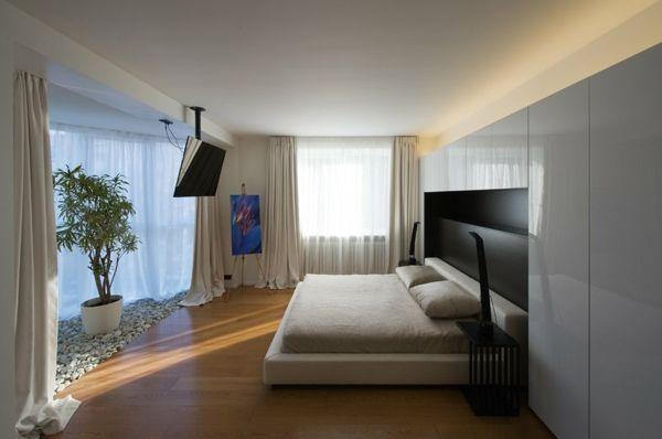 Master Bedroom Minimalist minimalist-apartment-interior-master-bedroom
